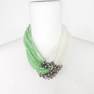 Multistrand Beaded Criss Cross Necklace